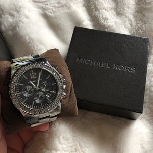 Michael Kors tortoise rhinestone watch!